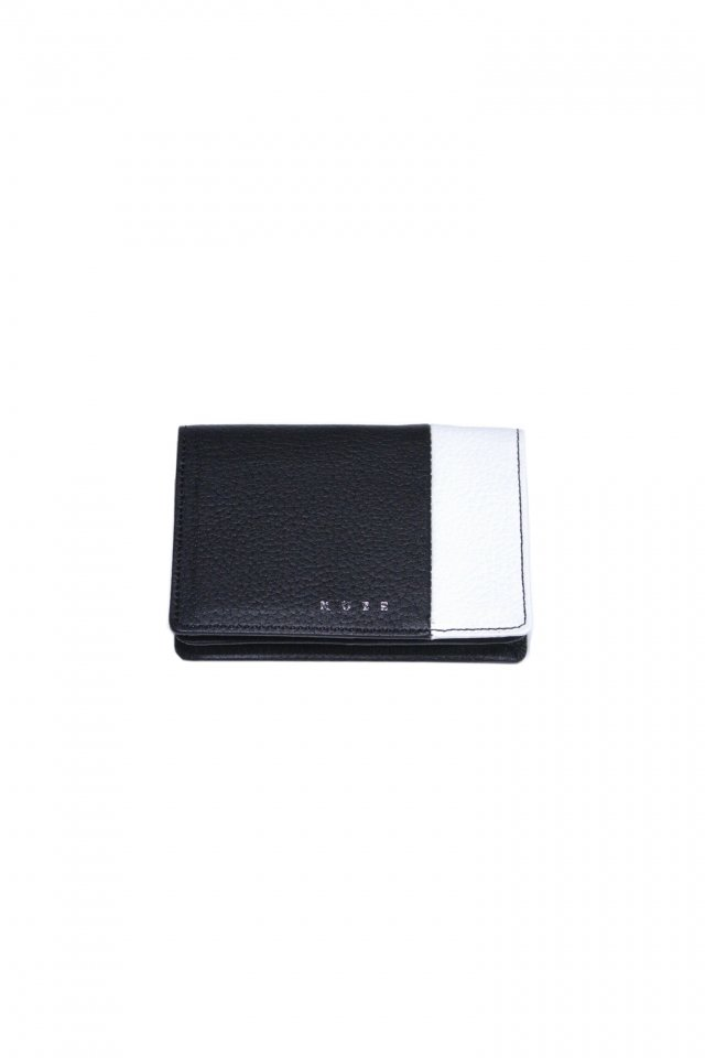 【MUZE GALLERY 限定商品】MUZE - LEATHER CARD CASE (BLACK × WHITE) ミューズ 名刺入れ カードケース