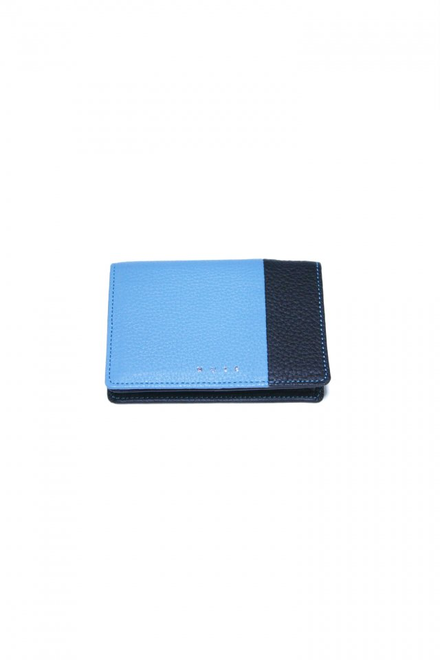 【MUZE GALLERY 限定商品】MUZE - LEATHER CARD CASE (BLACK × TURQUOISE) ミューズ 名刺入れ カードケース