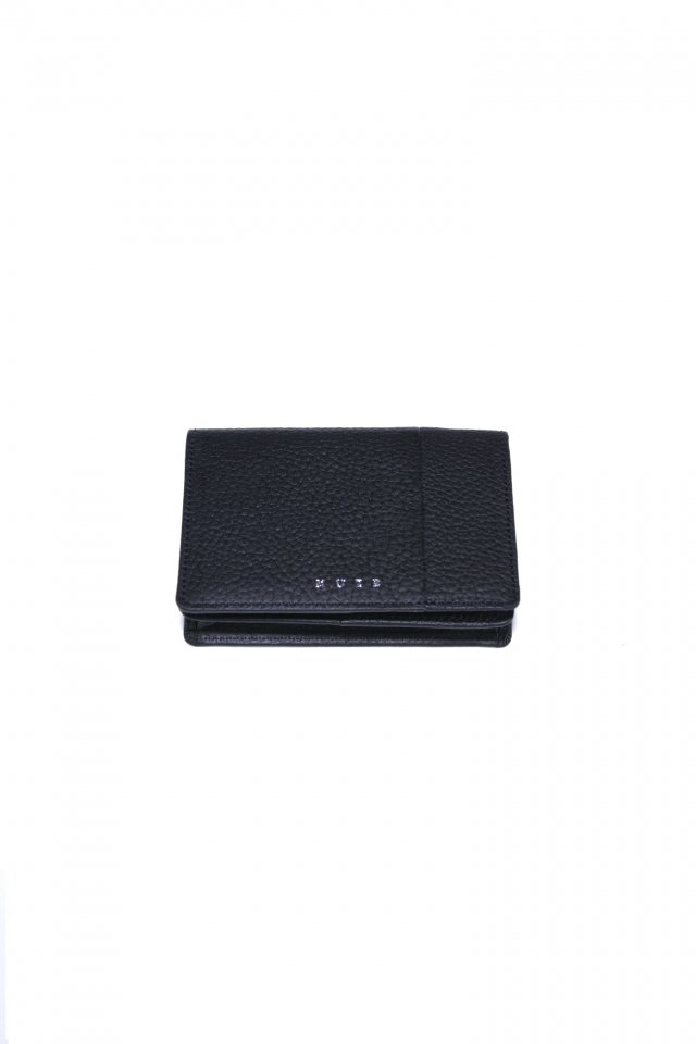 【MUZE GALLERY 限定商品】MUZE - LEATHER CARD CASE (BLACK × BLACK) ミューズ 名刺入れ カードケース