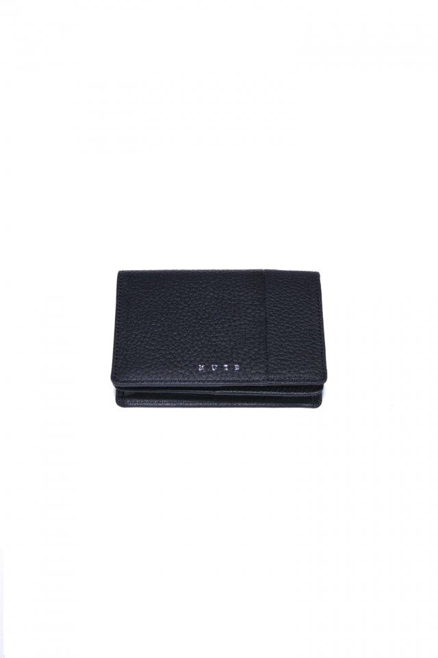 【MUZE GALLERY 限定商品】MUZE - LEATHER CARD CASE (BLACK × BLACK) ミューズ 名刺入れ カードケース