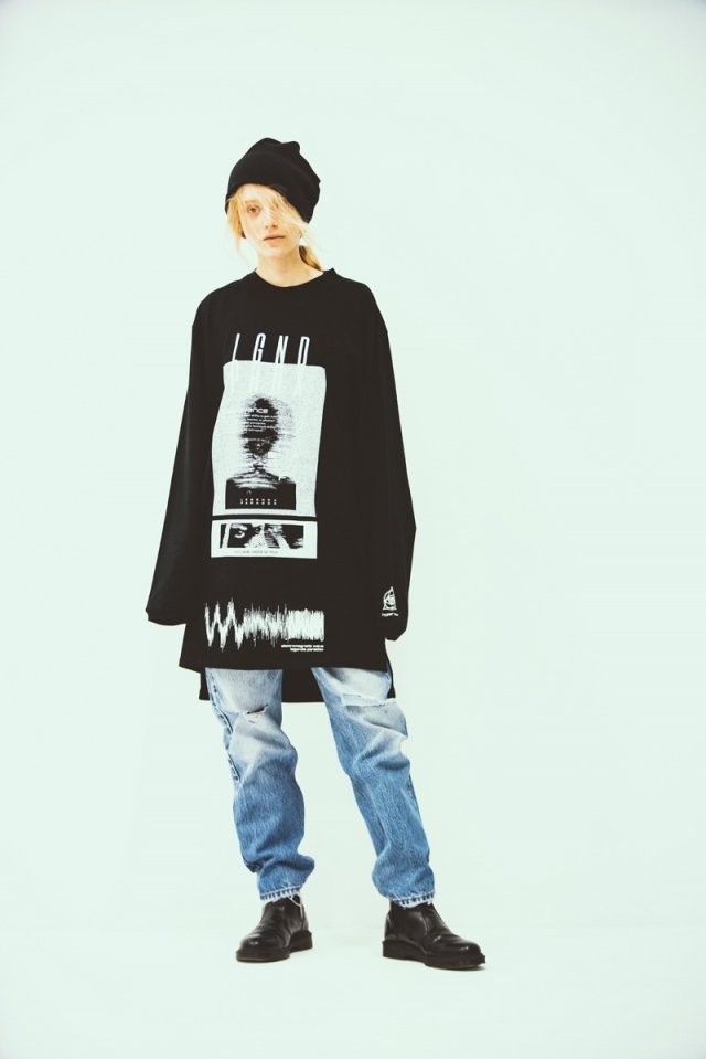 [Coming soon] LEGENDA × PARADOX - LONG L/S TEE(visualize/BLACK)
