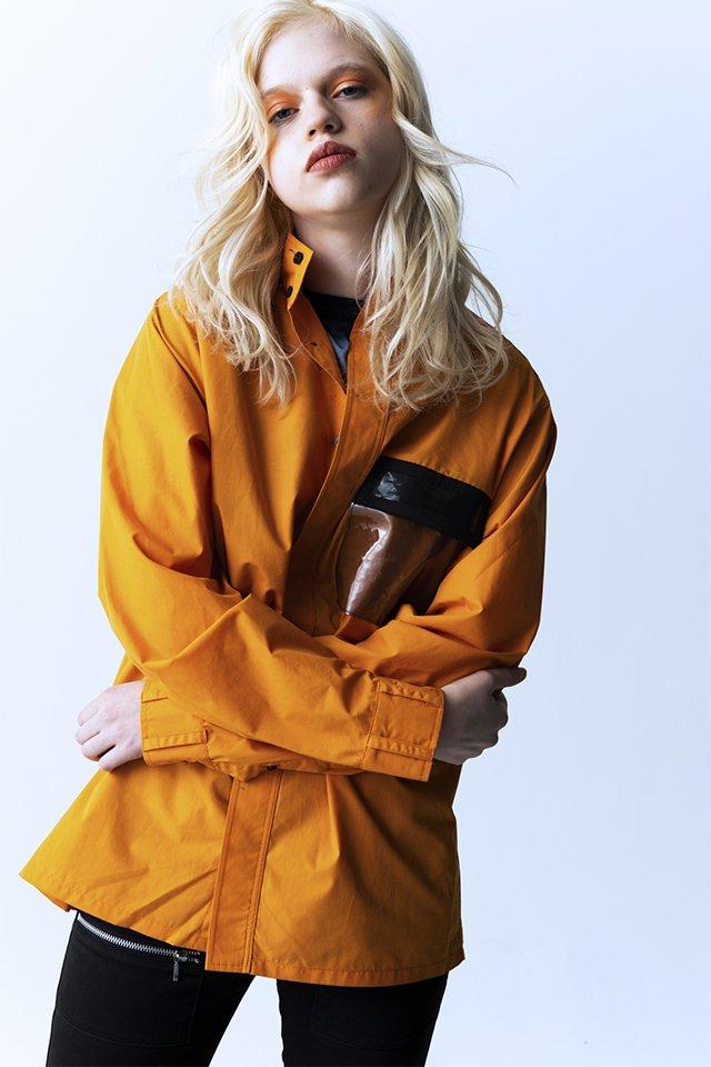 【20%OFF】PARADOX - HIGHNECK SHIRTS (ORANGE) パラドックス  ハイネックシャツ