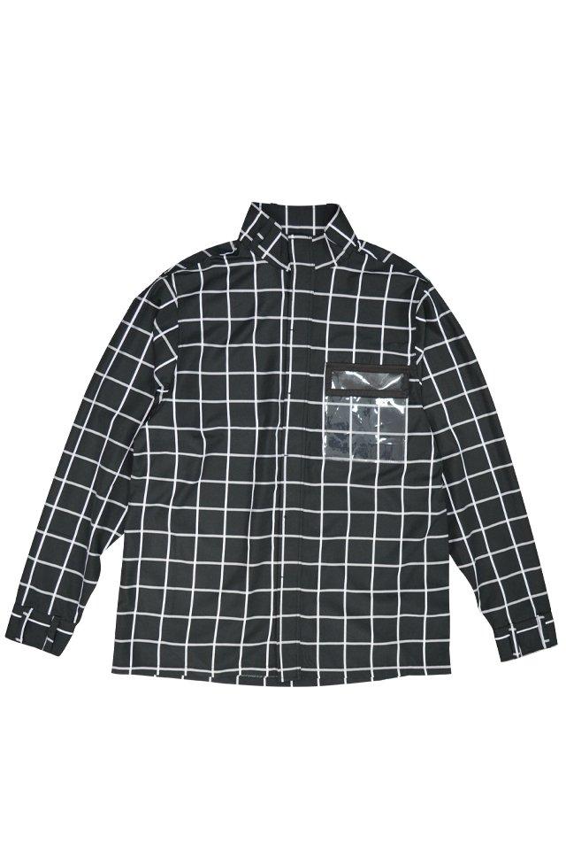 【30%OFF】PARADOX - HIGHNECK SHIRTS (GRID) パラドックス  ハイネックシャツ