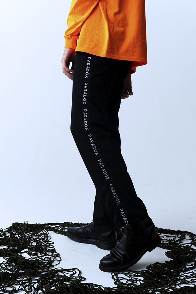 【10%OFF】PARADOX - LINE JERSEY PANTS (BLACK) パラドックス  パンツ