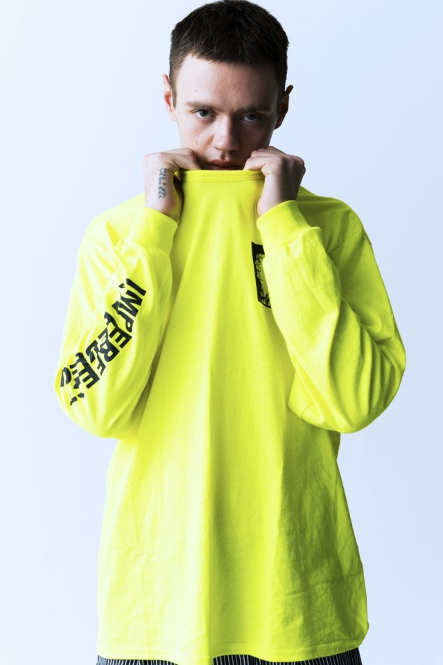 PARADOX - PRINT L/S TEE (ASSOCIATION / YELLOW) パラドックス シャツ