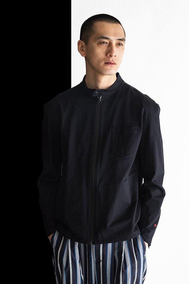 MUZE-PLAID RIDERS SHIRTS(BLACK) ミューズ ライダースシャツ