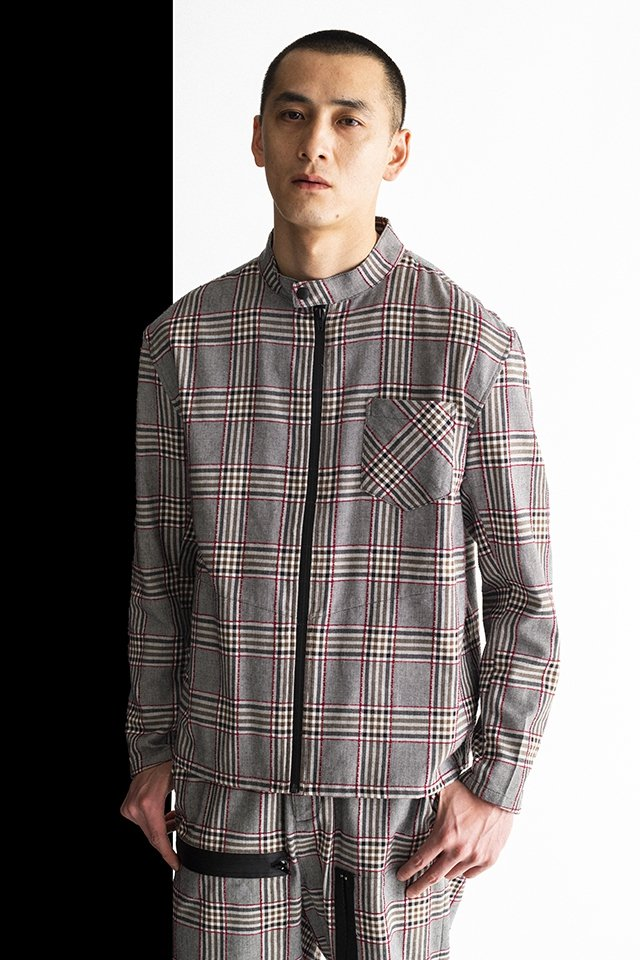 MUZE-PLAID RIDERS SHIRTS(RED×GRAY) ミューズ ライダースシャツ