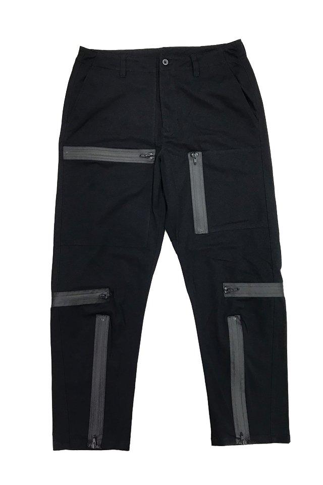 MUZE - PLAID PARACHUTE PANTS(BLACK) ミューズ パンツ