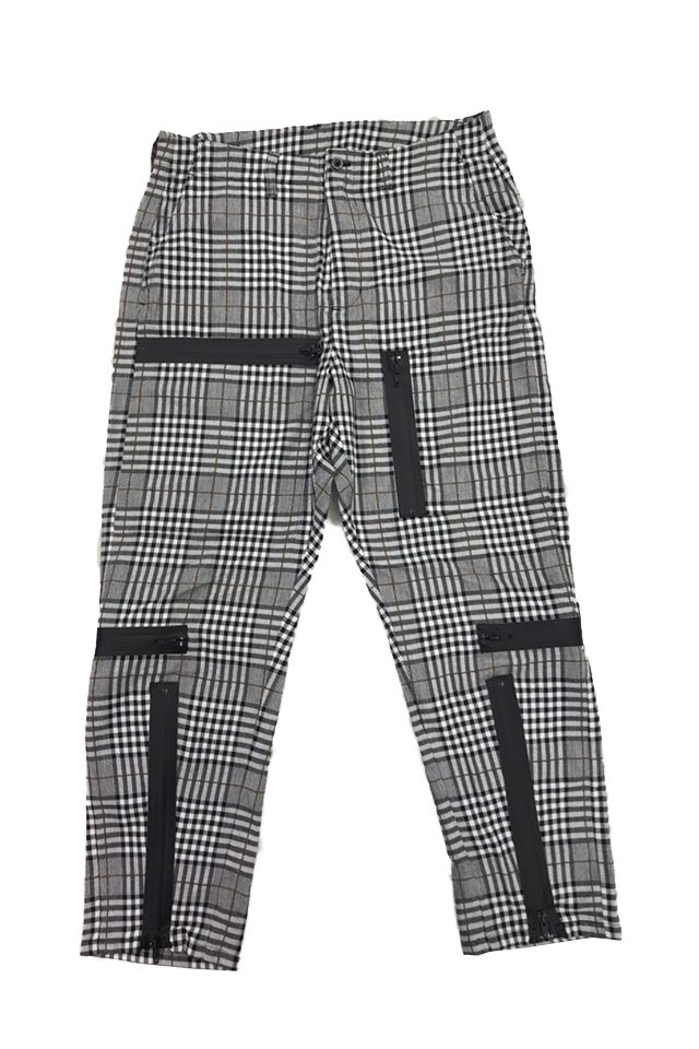 MUZE-PLAID PARACHUTE PANTS(BLACK×GRAY) ミューズ パンツ