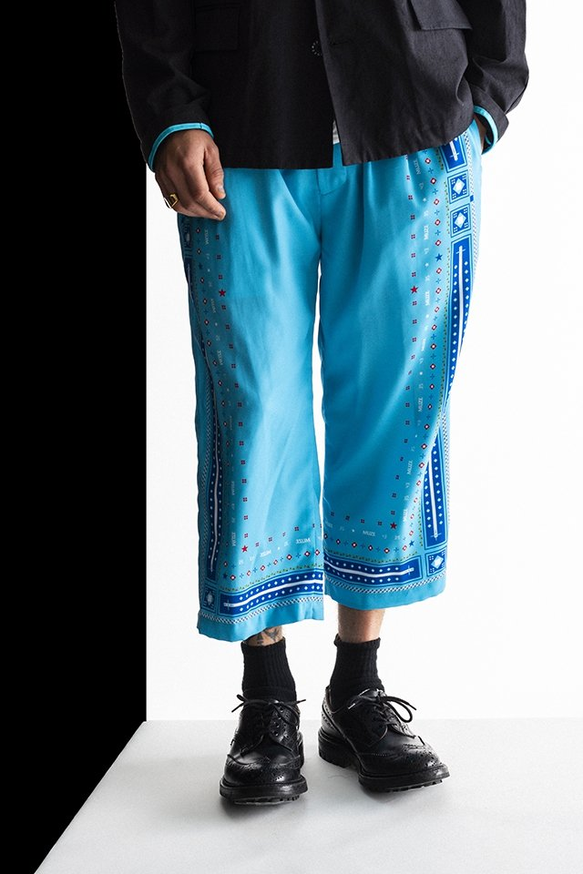 MUZE×SAPPORO LAGER BEER-EASY PANTS(TURQUOISE) ミューズ パンツ