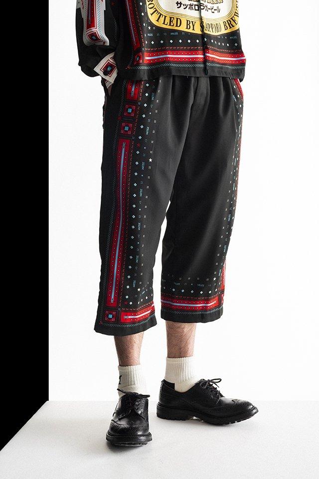 MUZE×SAPPORO LAGER BEER-EASY PANTS(BLACK) ミューズ パンツ
