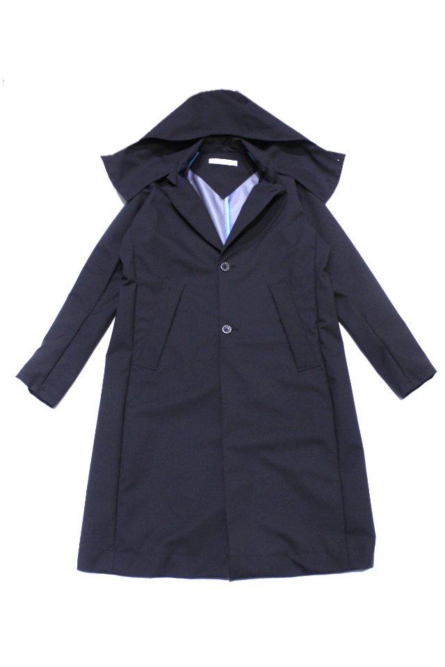 MUZE×GELANOTS / G-LINE HOODED RAIN CHESTER COAT (URBAN BLACK) ミューズ コート