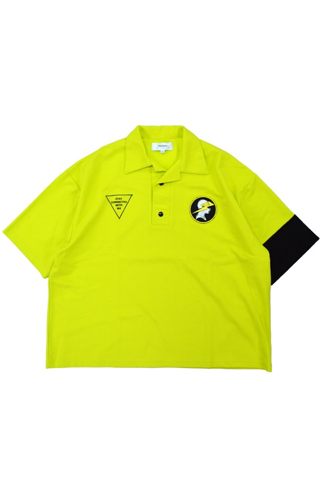【20%OFF】PARADOX - OPEN COLLAR POLO SHIRTS (NEON YLW) パラドックス  シャツ