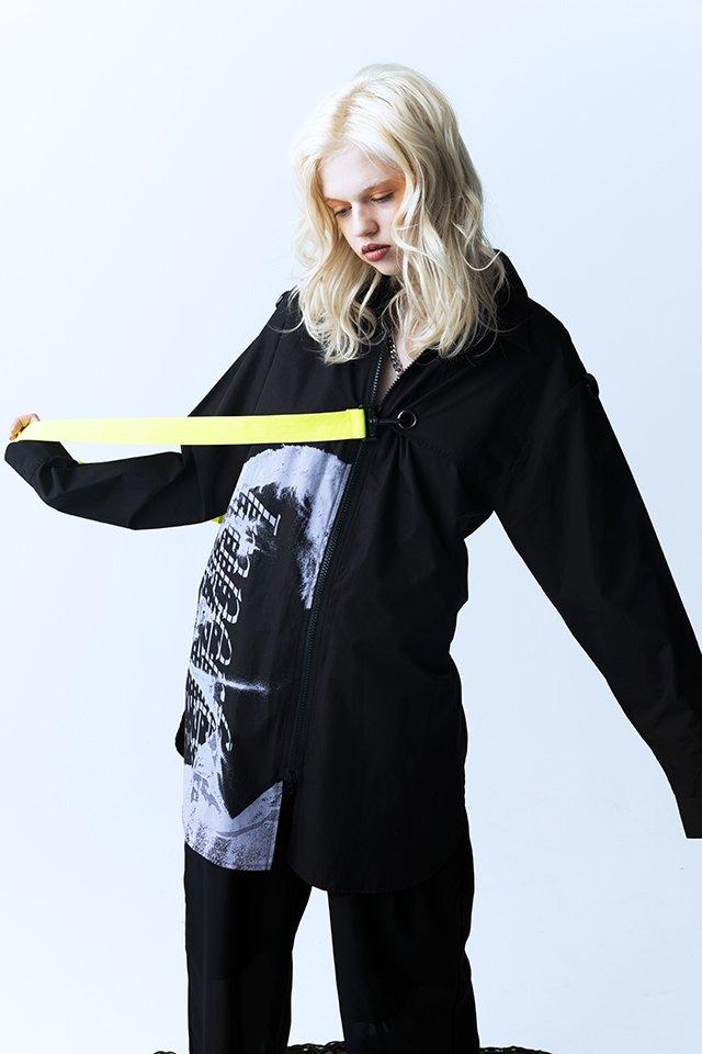 PARADOX - ZIP SHIRTS (BLACK) パラドックス  シャツ