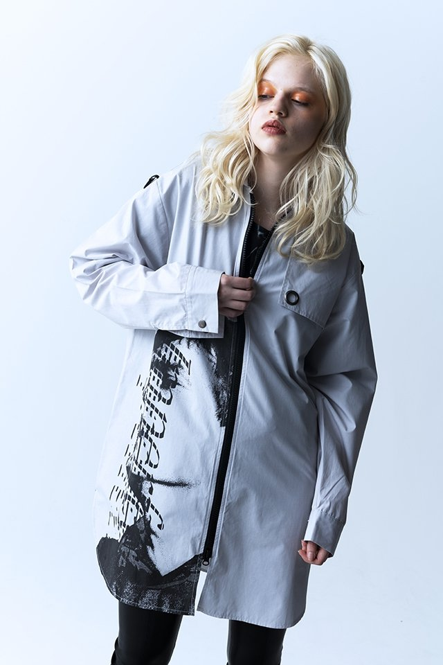 PARADOX - ZIP SHIRTS (LIGHT GRAY) パラドックス  シャツ