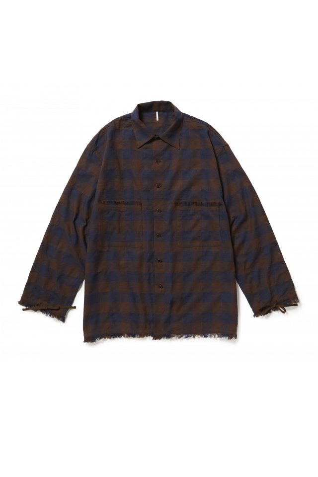 ETHOS - SANKA CHECK SHIRTS (BROWN CHECK)