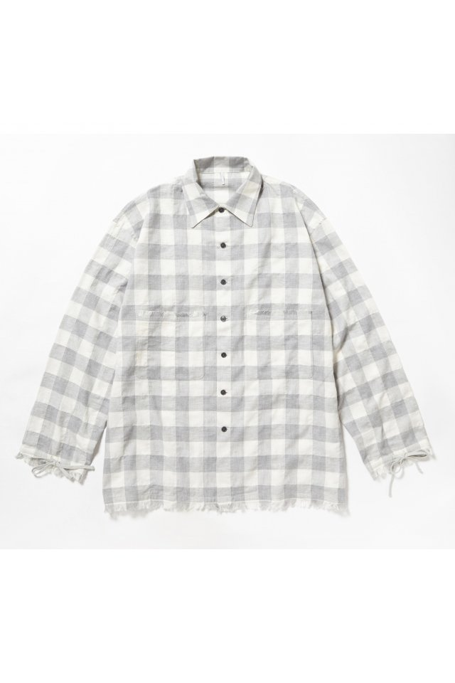 ETHOS - SANKA CHECK SHIRTS (GRAY CHECK)