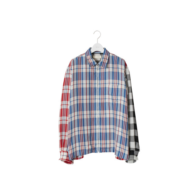 NEON SIGN  - CRAZY CHECK ZIP SHIRT (CRAZY)