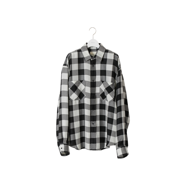 NEON SIGN  - BUFFALO CHECK SHIRT (BLACK)