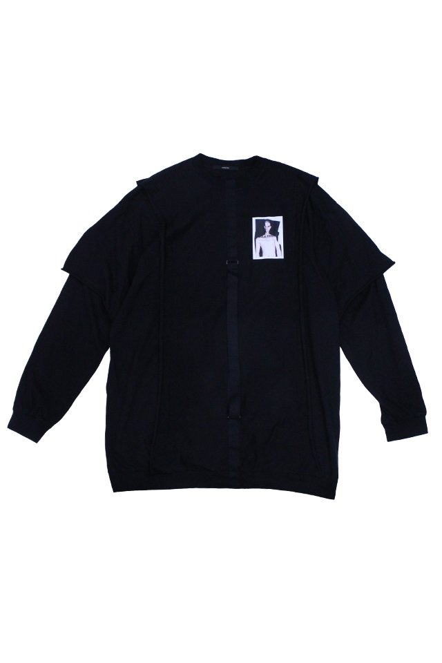 KOMAKINO - DOUBLE ALAYER LONG SLEEVE TOP ALFA GIULIA (BLACK)
