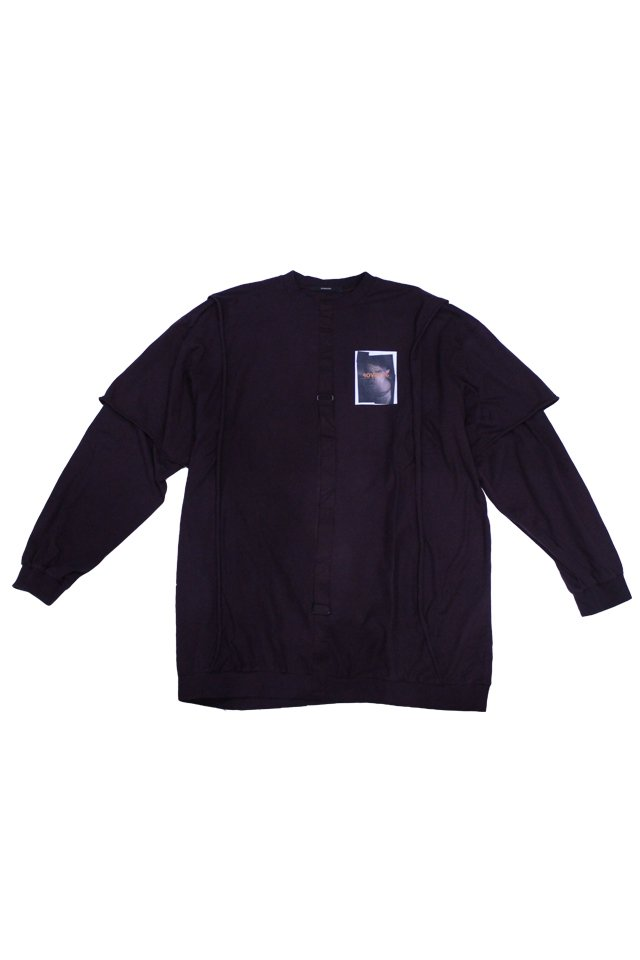【20%OFF】KOMAKINO - DOUBLE LAYER LONG SLEEVE TOP ROVER P8 (CHERRY BURGUNDY)