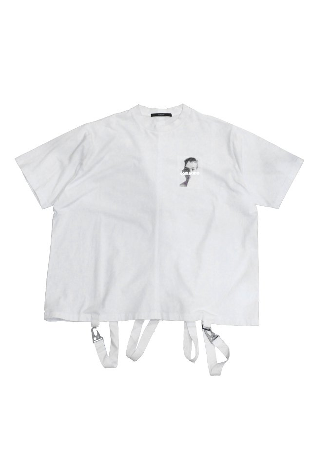 KOMAKINO - BOXY CUT JERSEY T-SHIRT CRASHED 3M (WHITE)