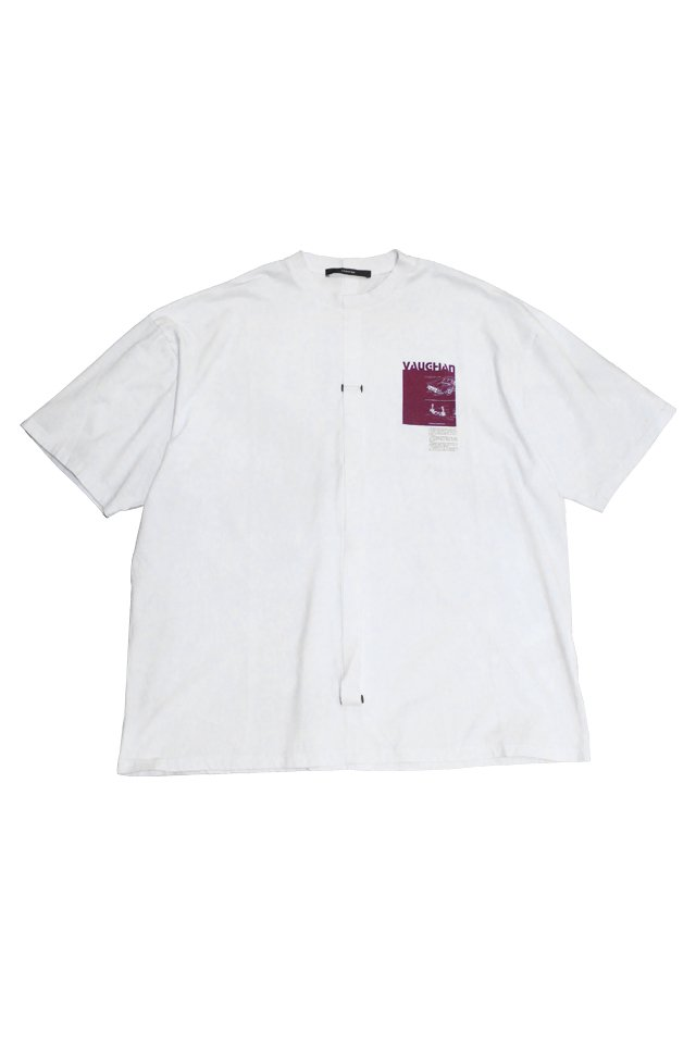 KOMAKINO - RELAXED FIT JERSEY T-SHIRT CRASH (WHITE)