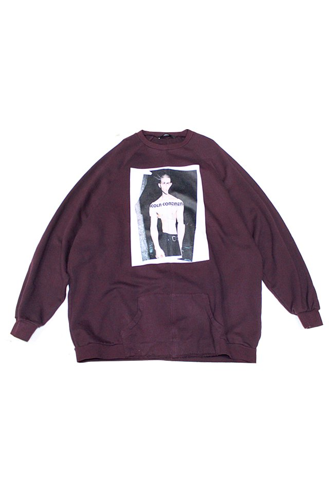 KOMAKINO - OVERSIZED FLEECE CREWNWCK JUMPER CRASH (CHERRY BURGUNDY)