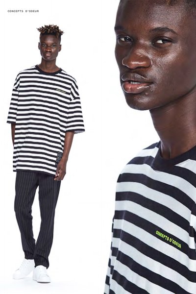 ODEUR - Oversize T-Shirt (Black Stripe)