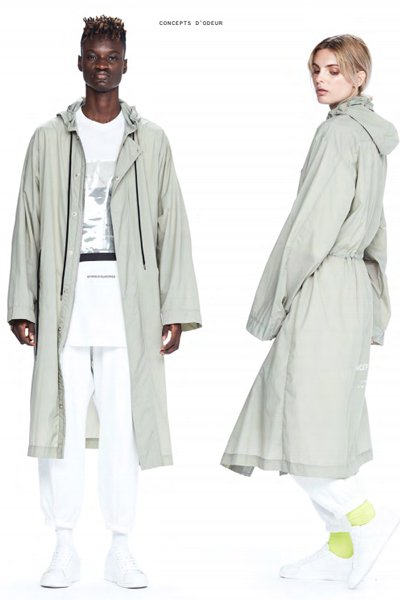 ODEUR - Hooded Parkas (Smoke)