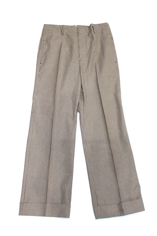 The Adams&River - CHECK SLACKS (WHT/KHAKI)