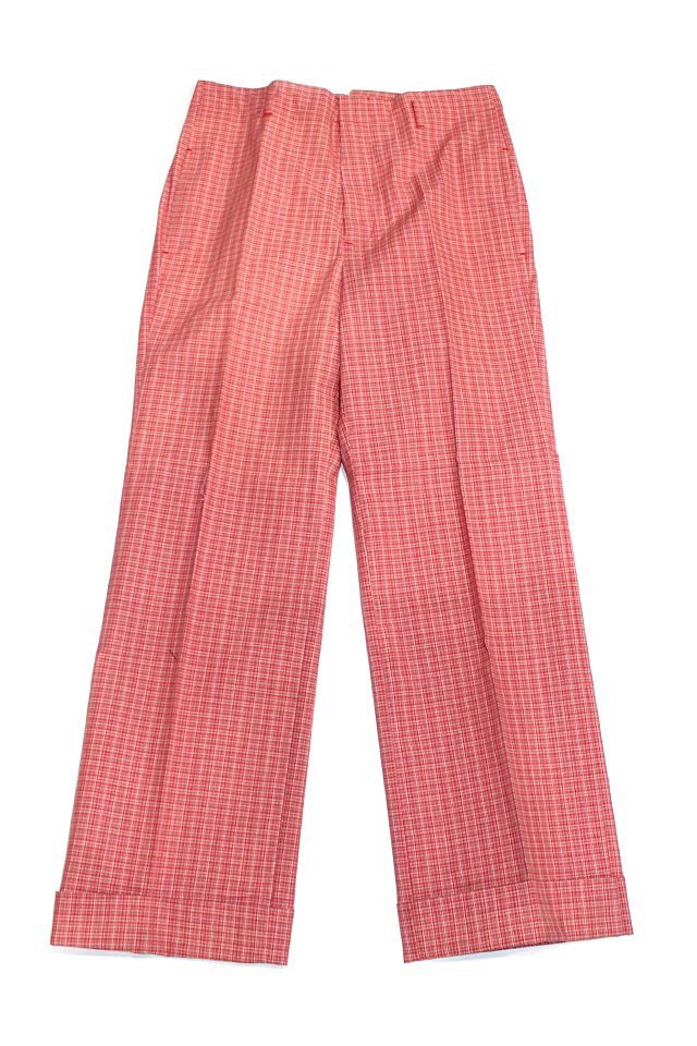 The Adams&River - CHECK SLACKS (RED/PINK)