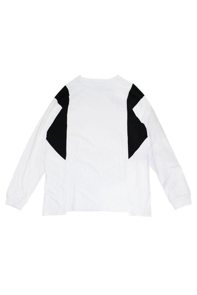 【30%OFF】PARADOX - SWICTCH L/S TEE (WHT-BLK) パラドックス  シャツ