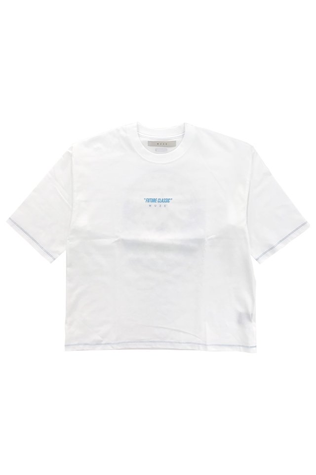 MUZE - SAPPORO LAGAR BEER OLD LABEL PRINT WIDE TEE (WHITE) ミューズ シャツ