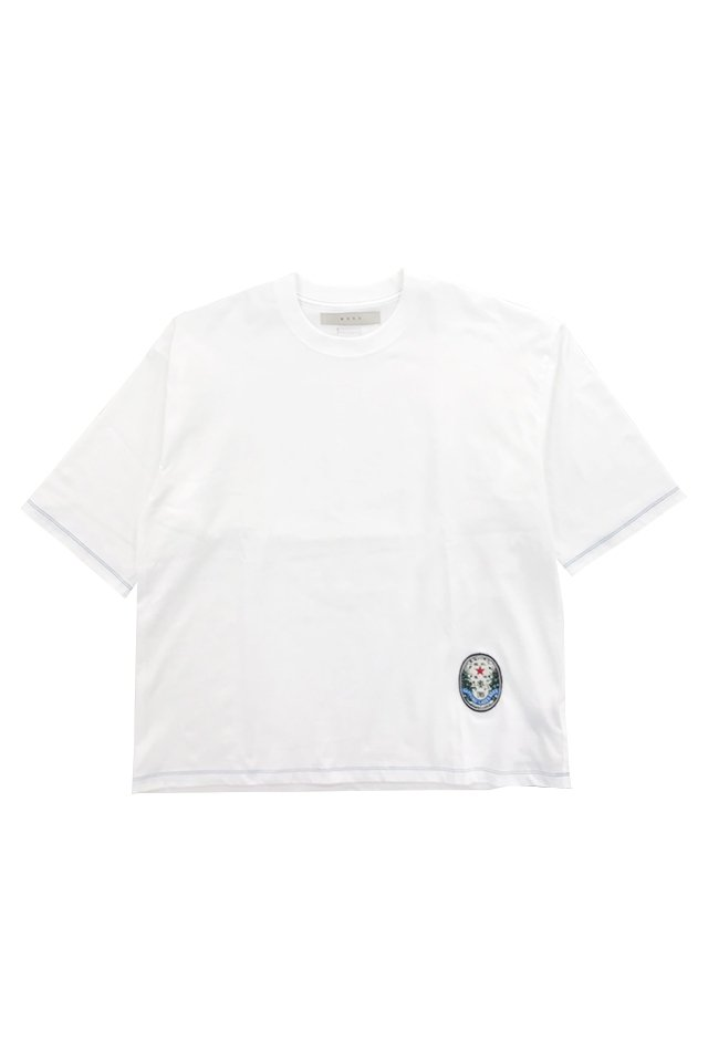 MUZE - SAPPORO LAGAR BEER OLD LABEL WAPPEN WIDE TEE (WHITE) ミューズ シャツ