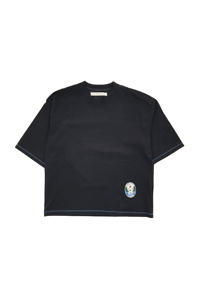 MUZE - SAPPORO LAGAR BEER OLD LABEL WAPPEN WIDE TEE (BLACK) ミューズ シャツ