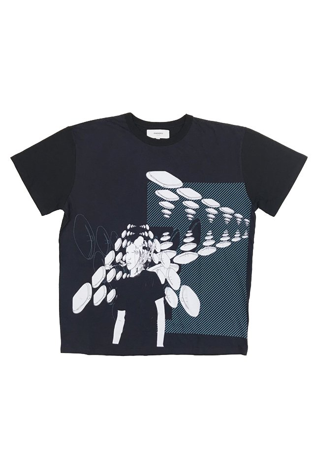 PARADOX×kureino - GRAPHIC BIG TEE(BLACK) パラドックス シャツ