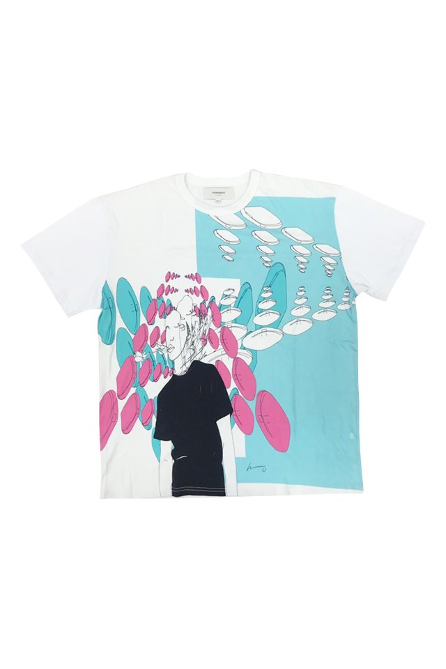 PARADOX×kureino - GRAPHIC BIG TEE(WHITE) パラドックス シャツ