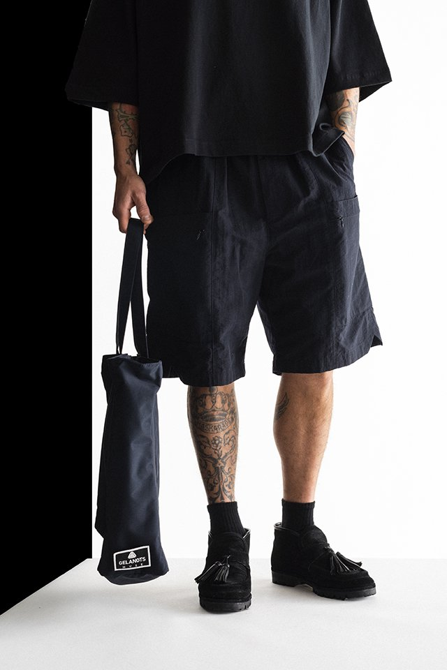 MUZE - SIDE POCKET SHORTS (BLACK) ミューズ ショーツ