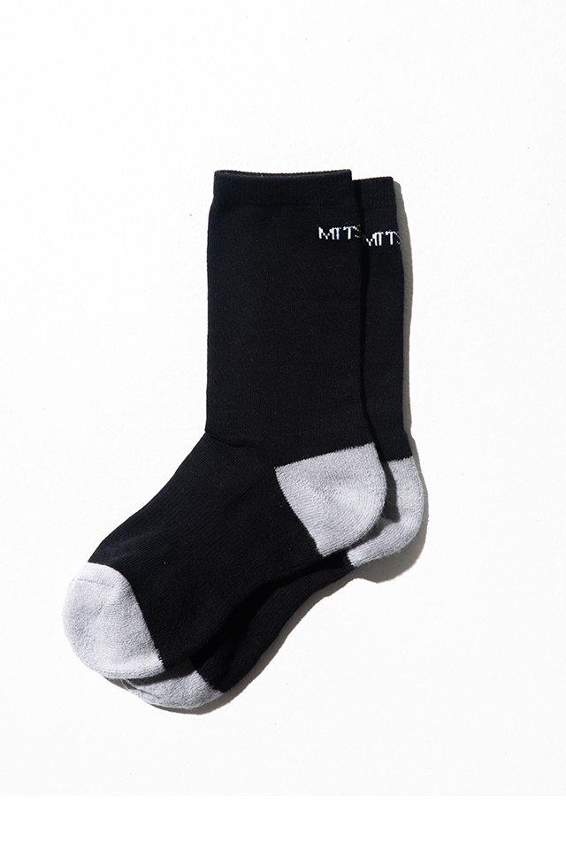 ※限定生産100【受注商品7月20日前後お届け予定】MITSUTSUKI - mitsutsuki LOGO 靴下(黒)