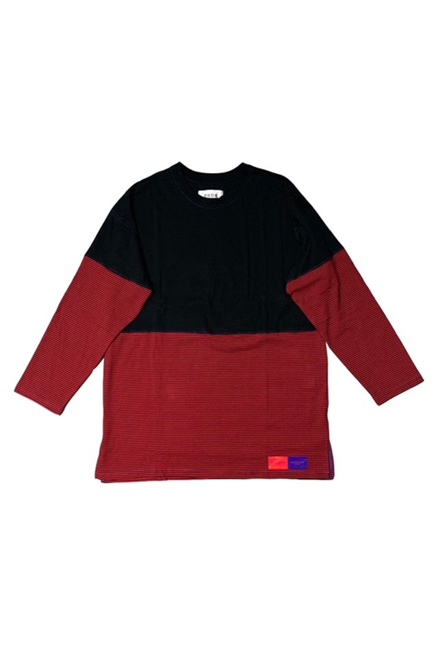 PARADOX-BORDER L/S TEE(RED)