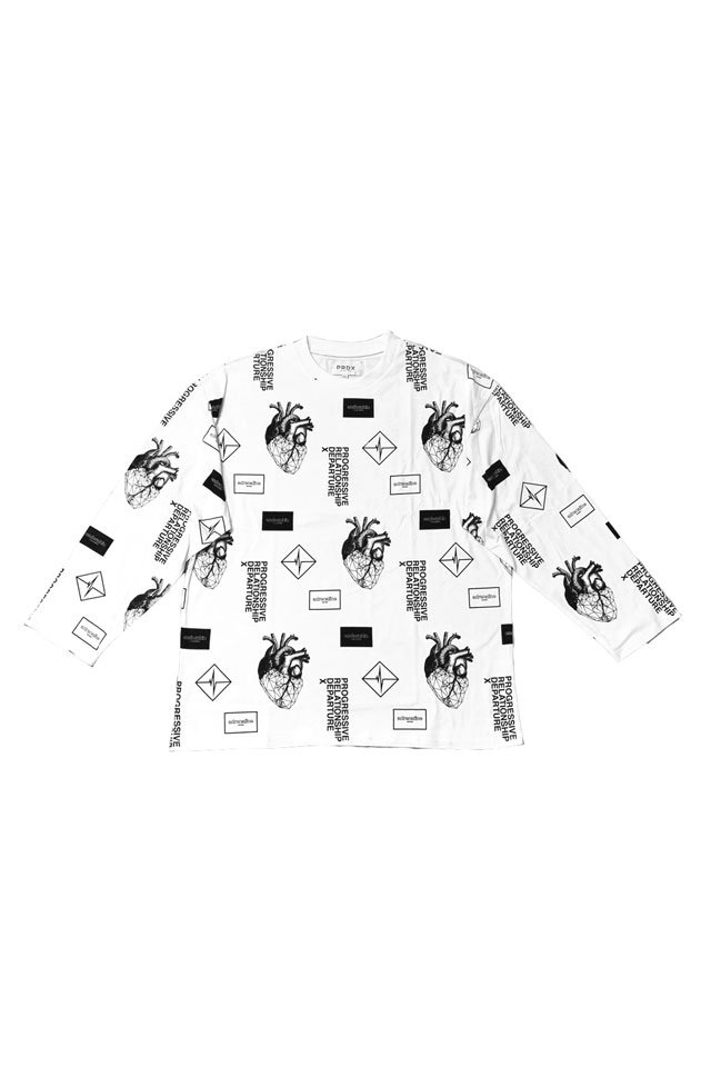 【20%OFF】PARADOX-GRAPHIC L/S TEE(WHITE)
