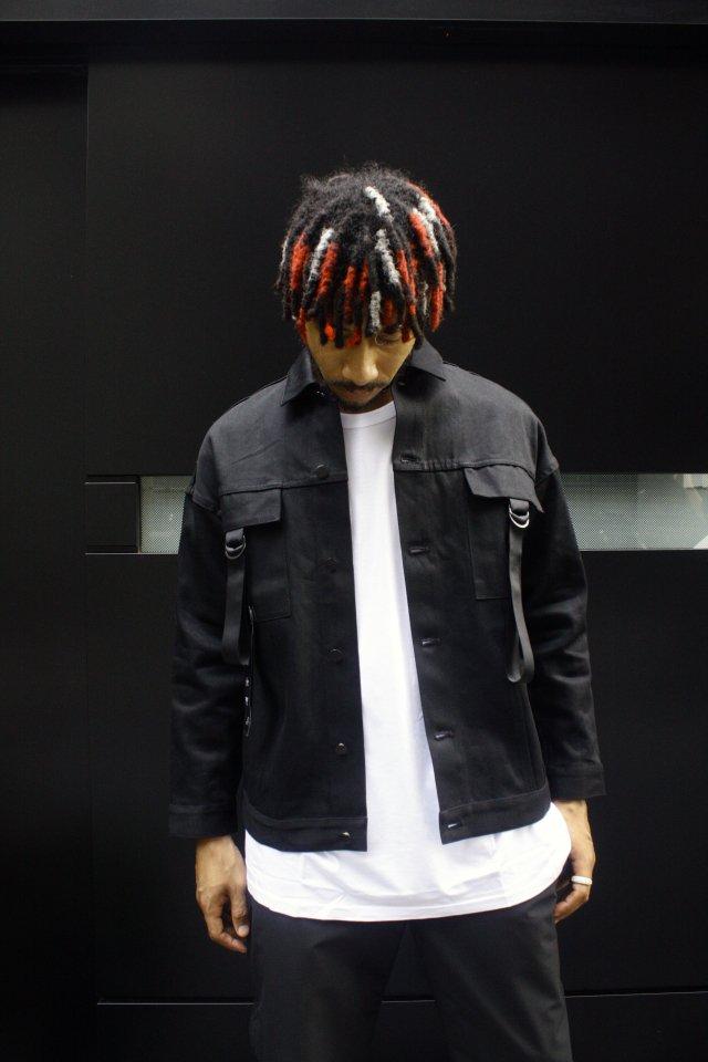【受注商品11月中旬-下旬お届け予定】MITSUTSUKI - 3rd TYPE Black Denim Jacket(黒)