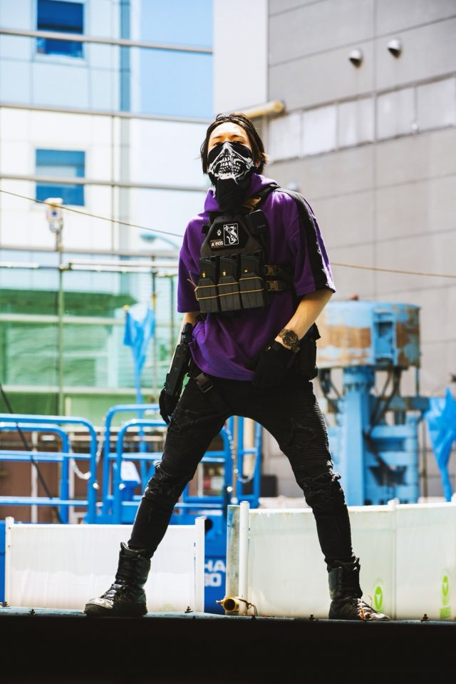 【10月下旬配送予定】FASHION SURVIVOR 1st SHORT SLEEVE HOODIE (PURPLE)