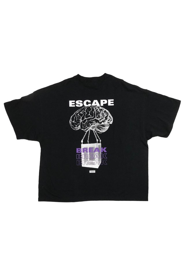 【20%OFF】PARADOX - WIDE BIG TEE  BRAINBREAK (BLACK)
