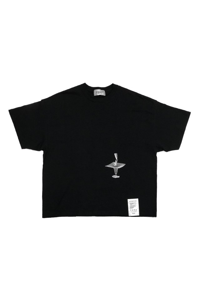 【20%OFF】PARADOX - WIDE BIG TEE PERSECTIVE (BLACK)