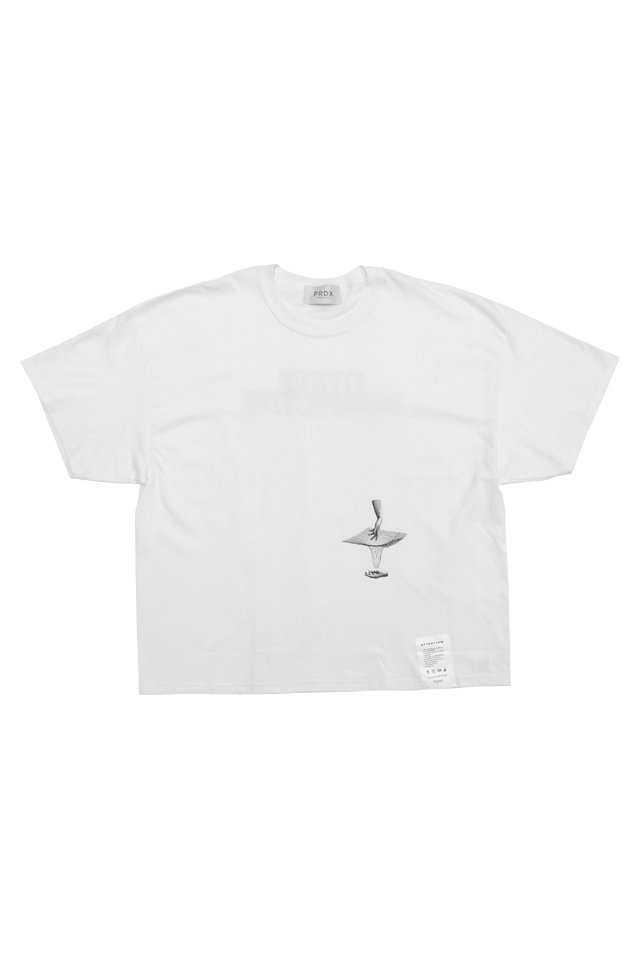 【20%OFF】PARADOX - WIDE BIG TEE PERSECTIVE (WHITE)