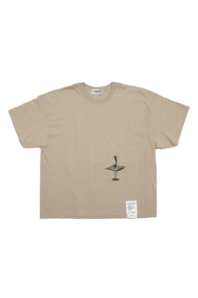 【20%OFF】PARADOX - WIDE BIG TEE PERSECTIVE (SAND)