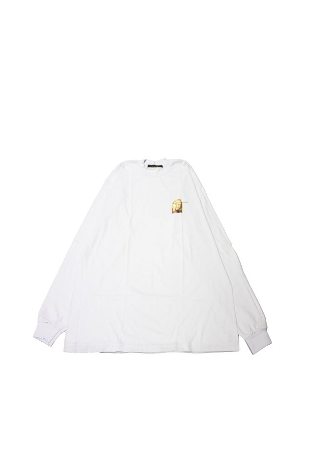 MUZE BLACK LABEL- DRAWING GIRL L/S TEE(WHITE)