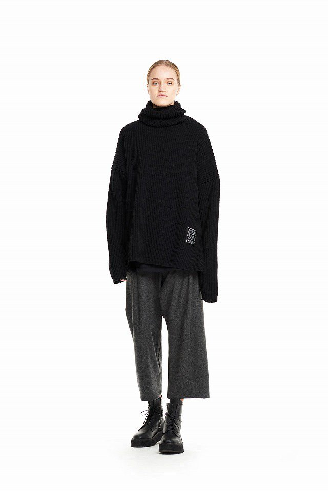 ODEUR - Oversize Knit Polo (Black)